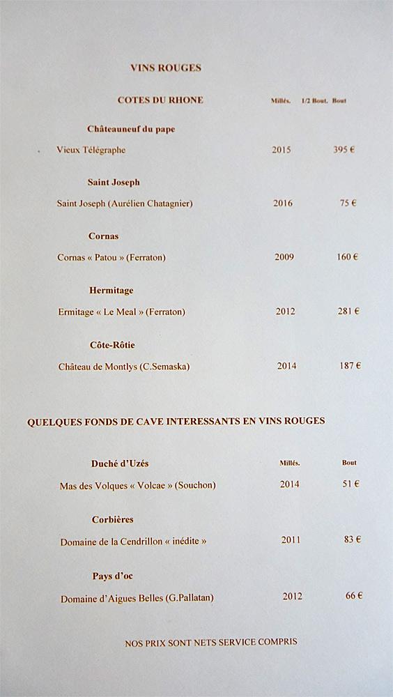 Vins rouges de la Vallée du Rhône