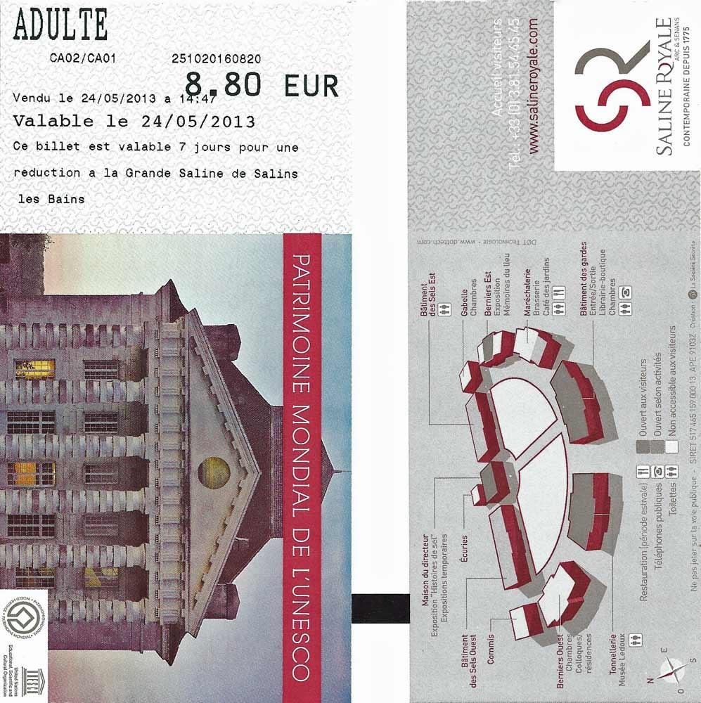 Le ticket d'entrée est à 8 € 80 ! Ici, même le prix d'accès est salé ! Vous avez dit droit pour tous à la culture ?