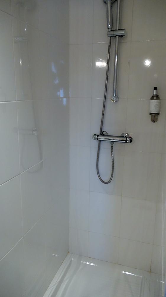 Le cabinet de toilettes partie douche