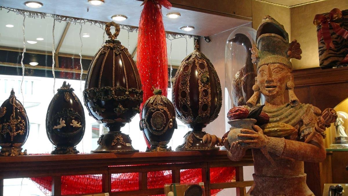 """Les """"œufs Fabergé"""" en chocolat"""