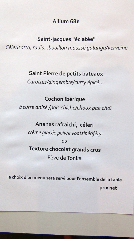 Menu Allium