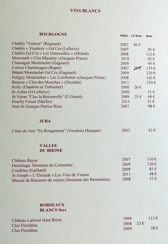 "Vins blancs ""Bourgogne …"""