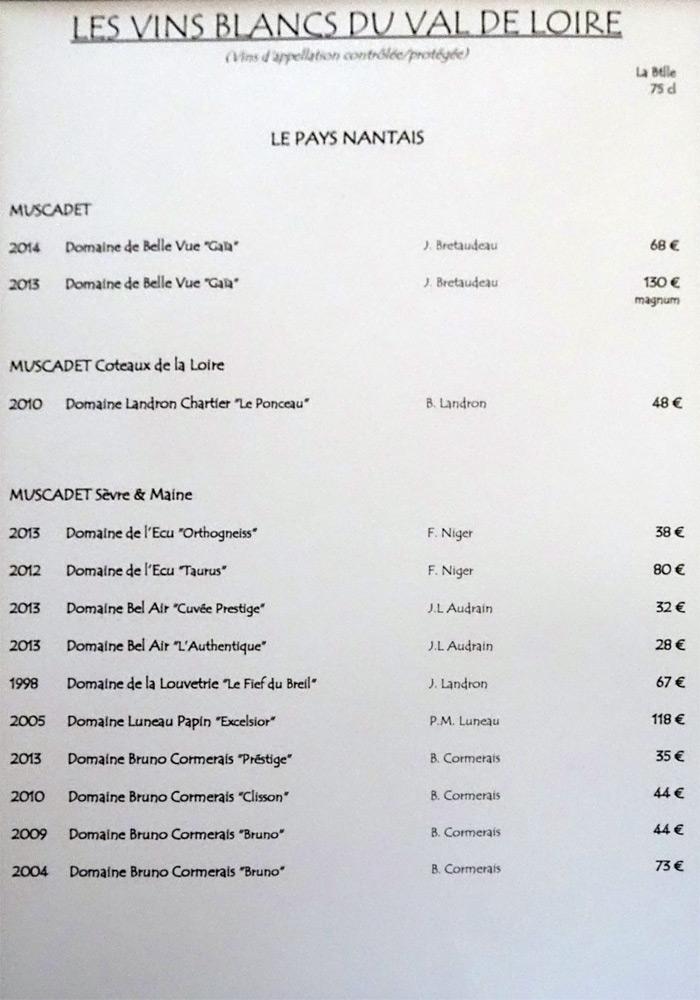 Les vins blancs du Val de Loire