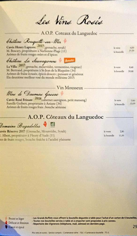 Vins rosés : IGP Coteaux du Languedoc - Vin mousseux - AOP Coteaux du Languedoc