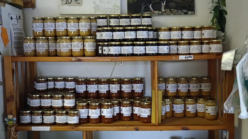 Les miels disponibles à la vente