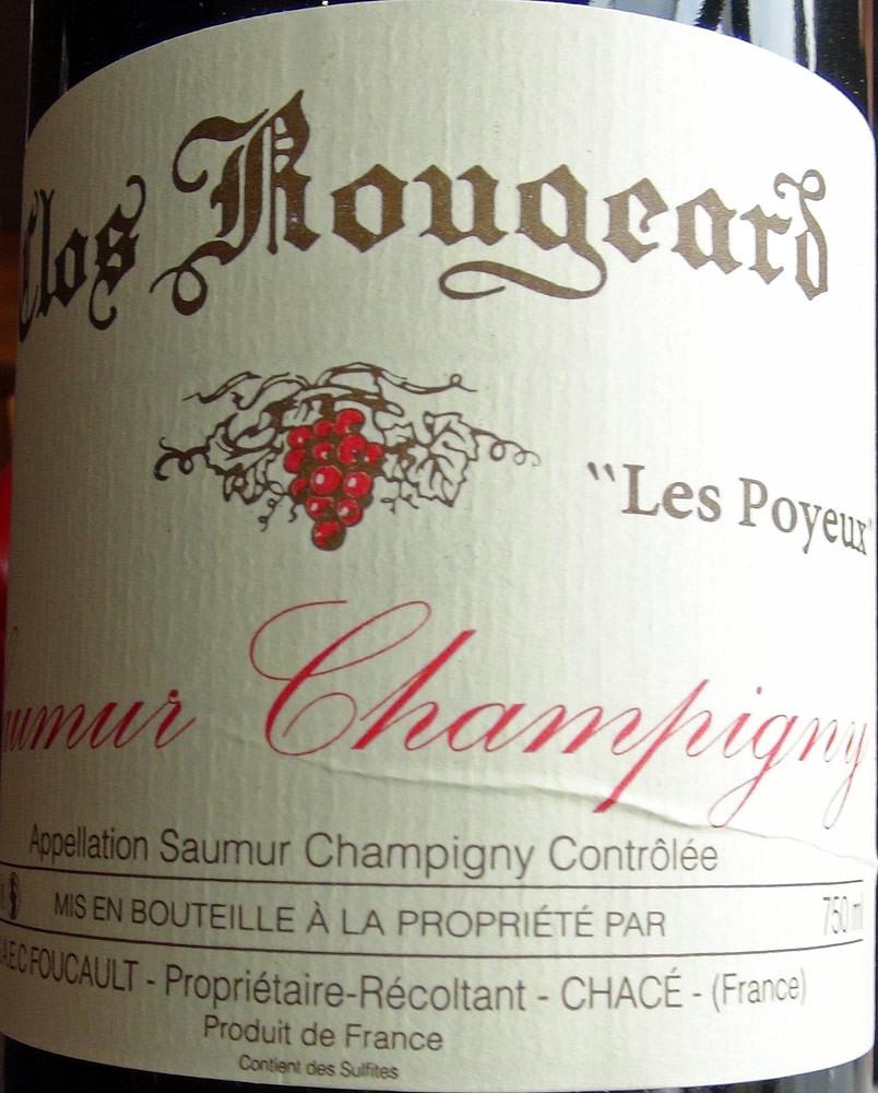 """Saumur-Champigny 2004 Clos Rougeard """"Les Poyeux"""" des frères Foucault"""