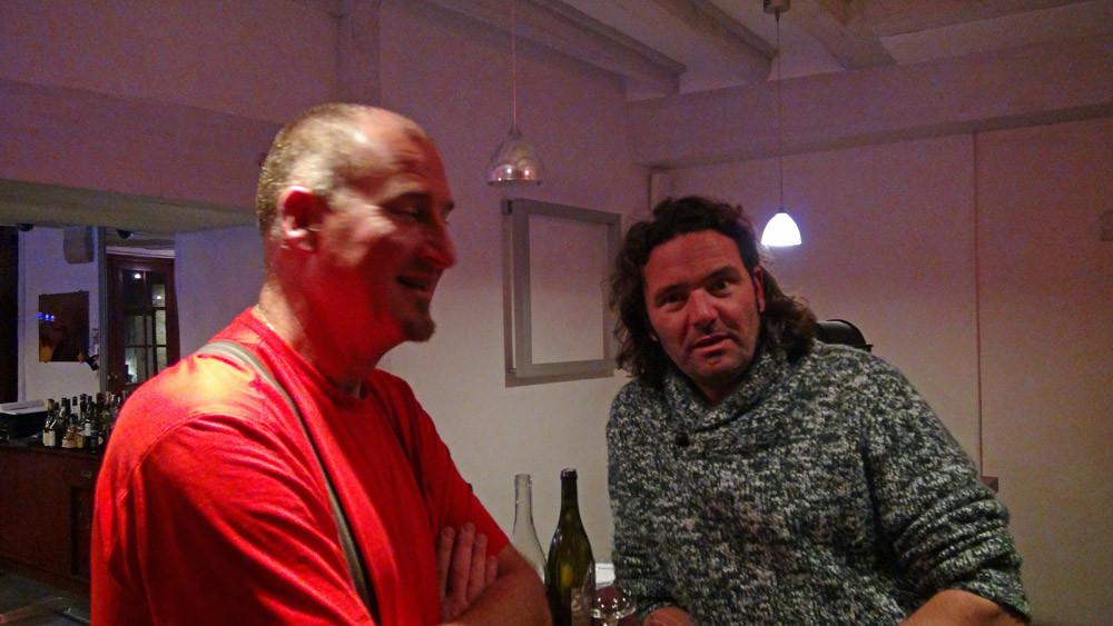 Les vignerons de la soirée, Laurent Herlin (Bourgueil) & Bertrand Jousset (Montlouis)