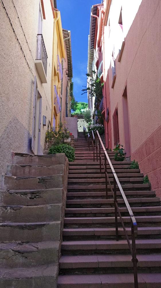 Rue étroite de Collioure