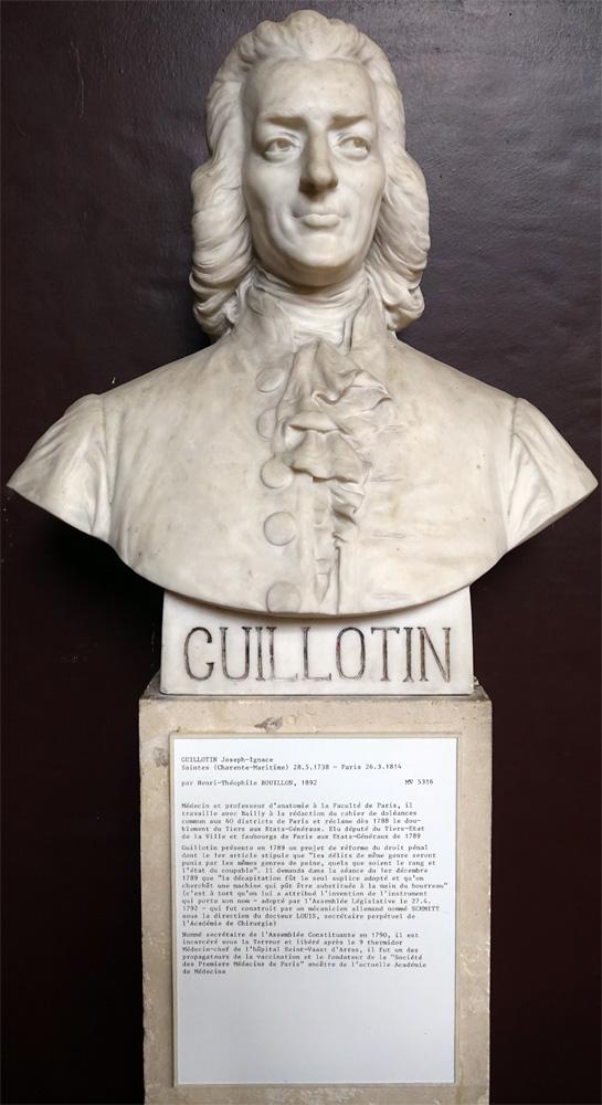 Buste de Joseph-Ignace Guillotin