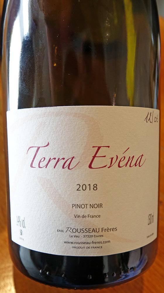 "VDF Pinot noir ""Terra Evéna"" 2018"
