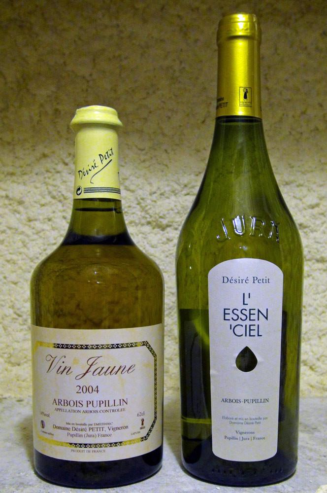 Arbois Pupillin Vin Jaune 2004 & Arbois Pupillin Savagnin ouillé 2010