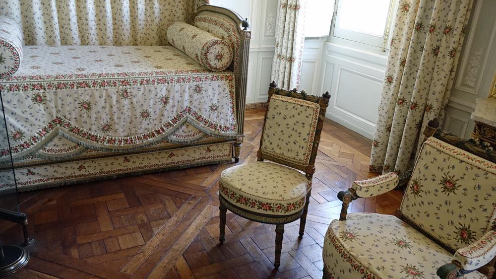 Le Petit Trianon : La chambre de la Reine Marie-Antoinette de 1777 à 1789