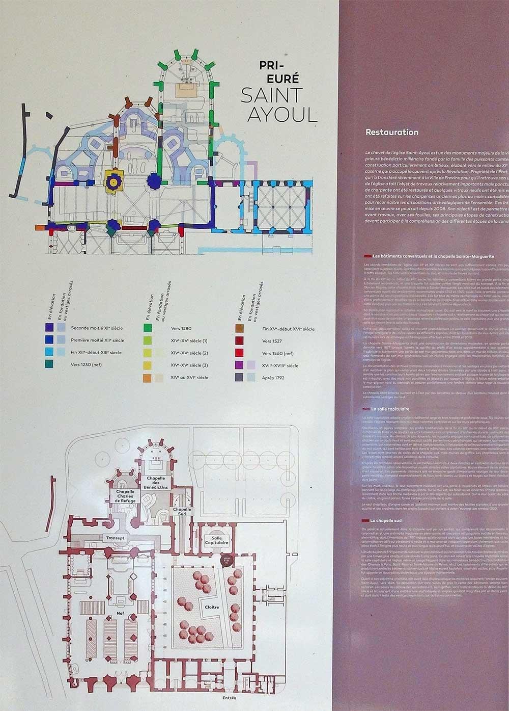 Plan du Prieuré Saint-Ayoul