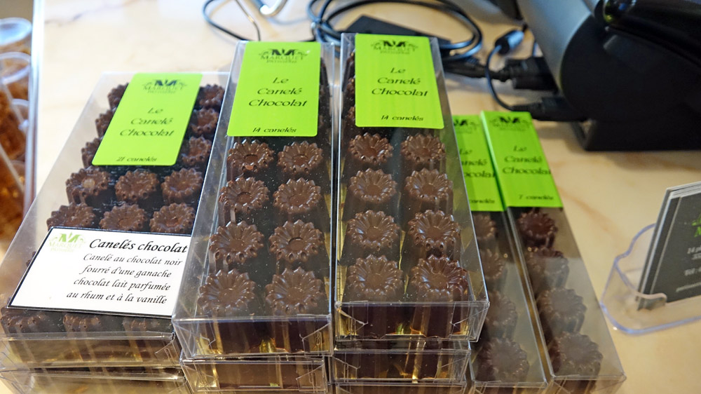 Canelés chocolat