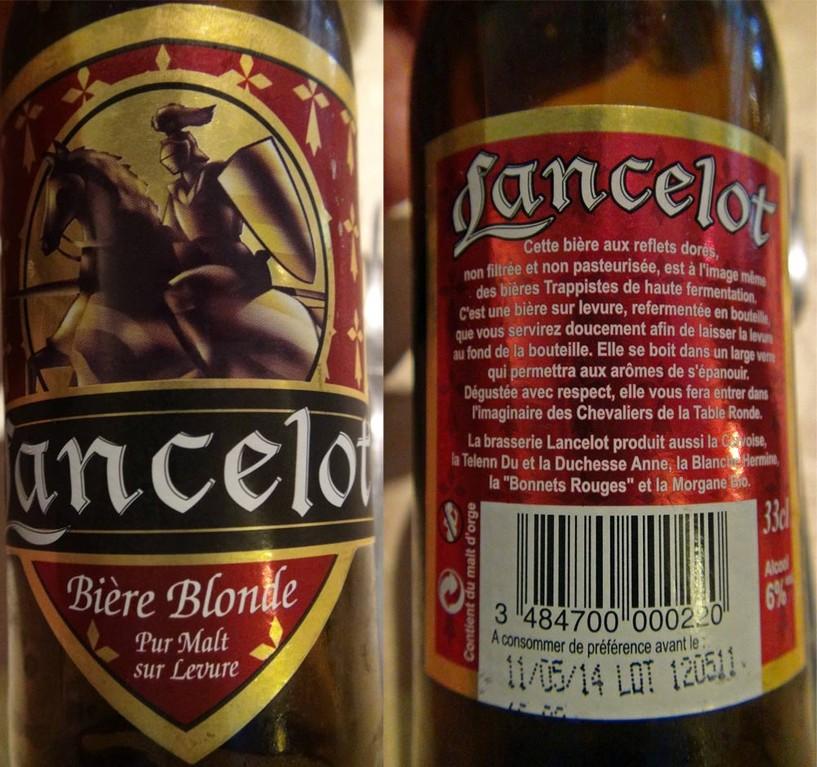 Bière blonde de la brasserie Lancelot