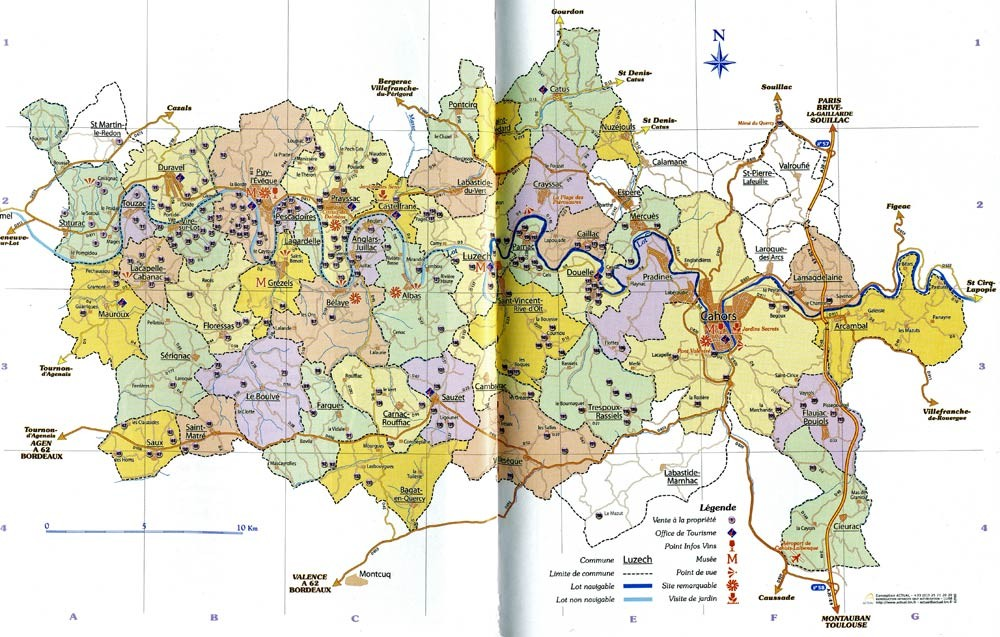 La carte des vignerons du Cahors