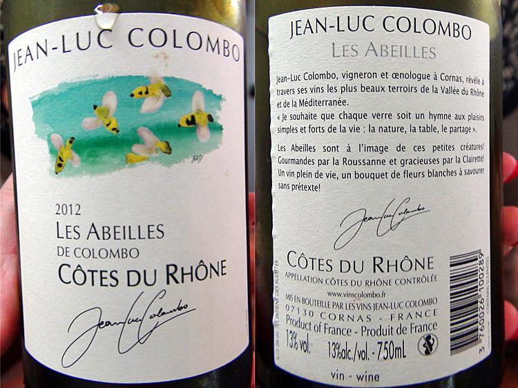 Côtes du Rhône blanc 2012 de JL Colombo