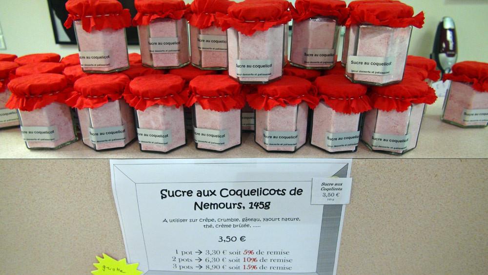 Sucre aux coquelicots de Nemours