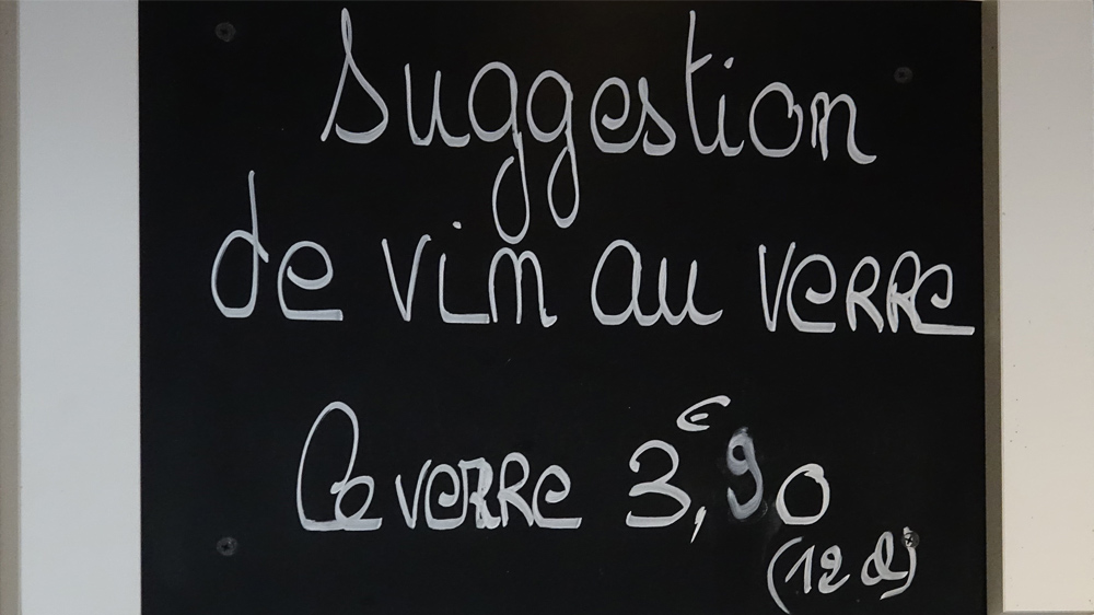 Suggestion de vin au verre