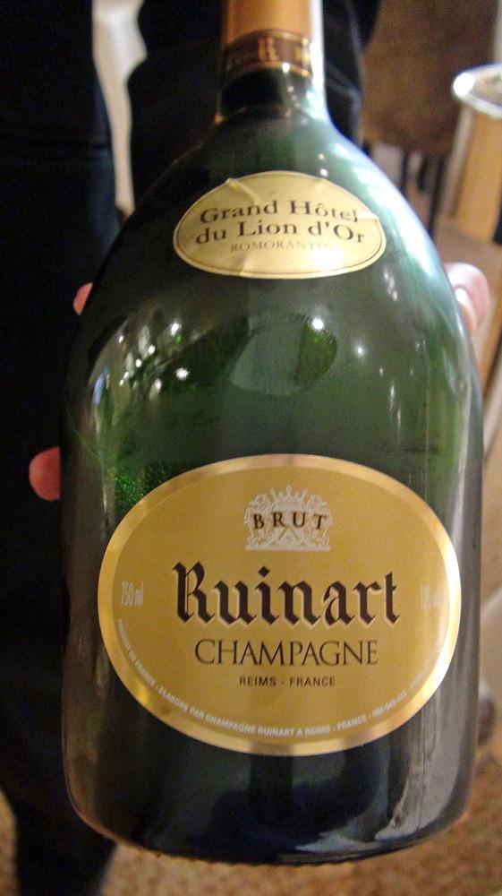 Champagne Ruinart pour l'apéritif