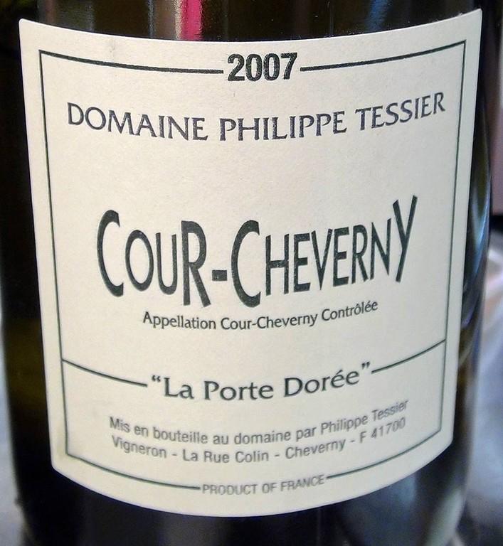 """Domaine Philippe Tessier """"La Porte Dorée"""" 2007 - AOC Cour-Cheverny"""