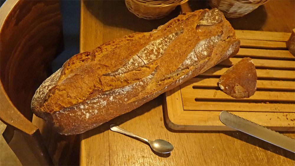 Le pain est prêt à découper