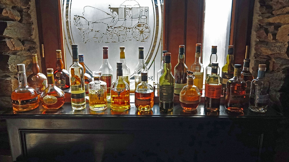 Les bouteilles d'alcools disponibles