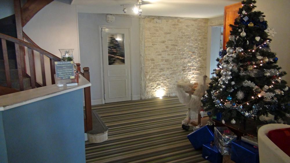 L'accueil (le comptoir a été  changé le 26 décembre)