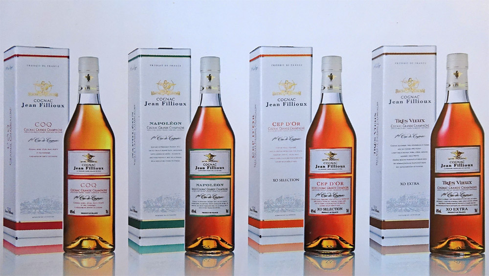 Quelques Cognacs de la gamme