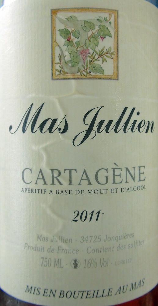 Juste pour le plaisir de l'étiquette de ce Cartagène du Mas Jullien