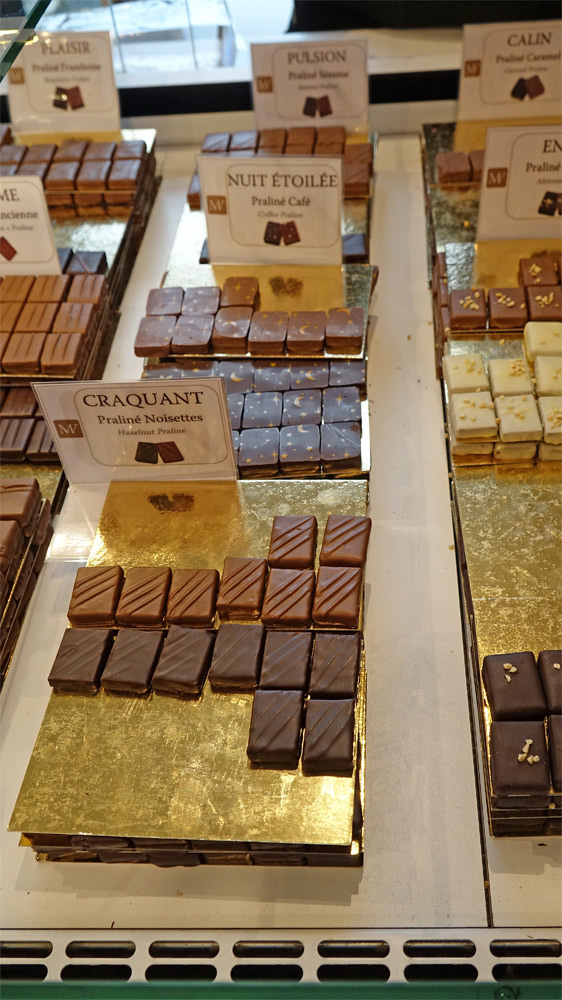Les chocolats (laits et noirs) proposés