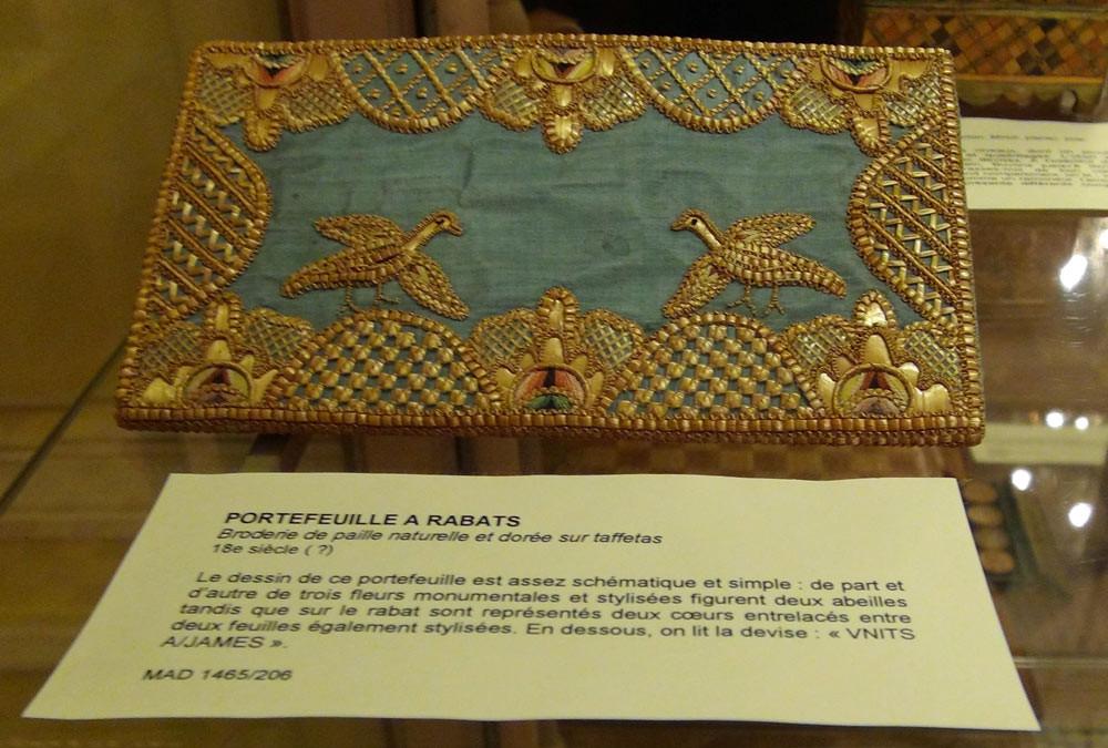 Musée des Arts décoratifs : marqueterie de paille