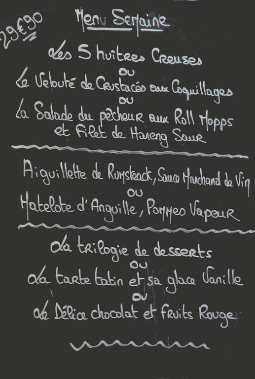 Intitulés du menu