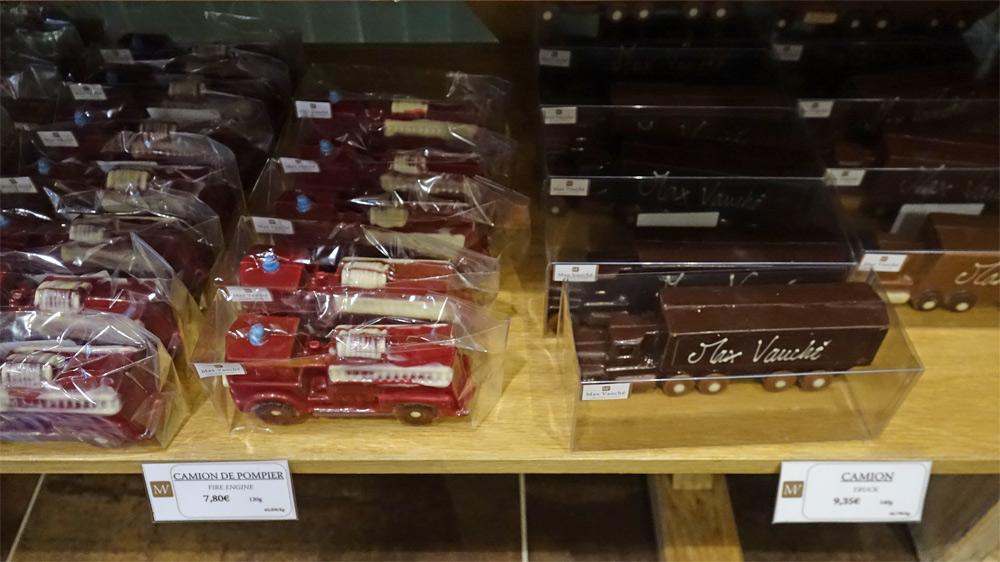 Sujets en chocolat