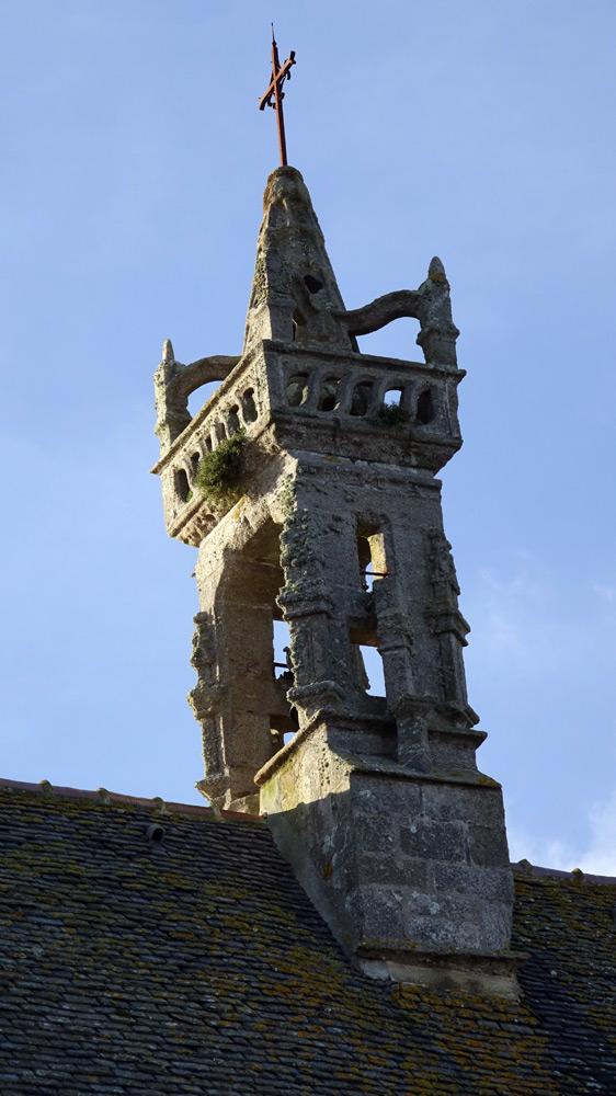 Le clocher Renaissance (1575-1576) de Notre-Dame de Croaz-Batz