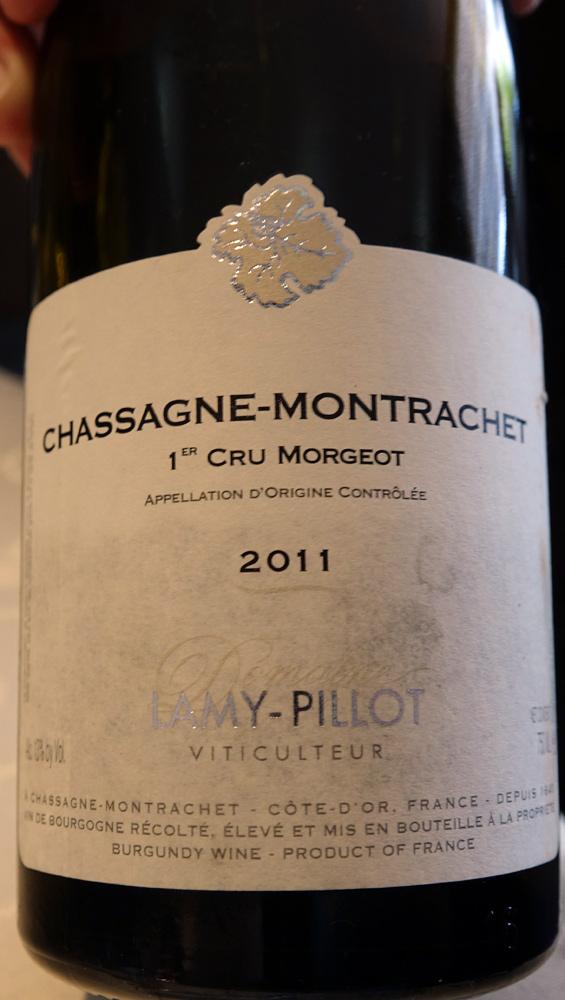 """Chassagne-Montrachet blanc 2011 1er cru """"Morgeot"""" de Lamy-Pillot"""