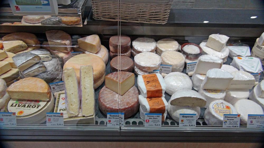 Les fromages en vente