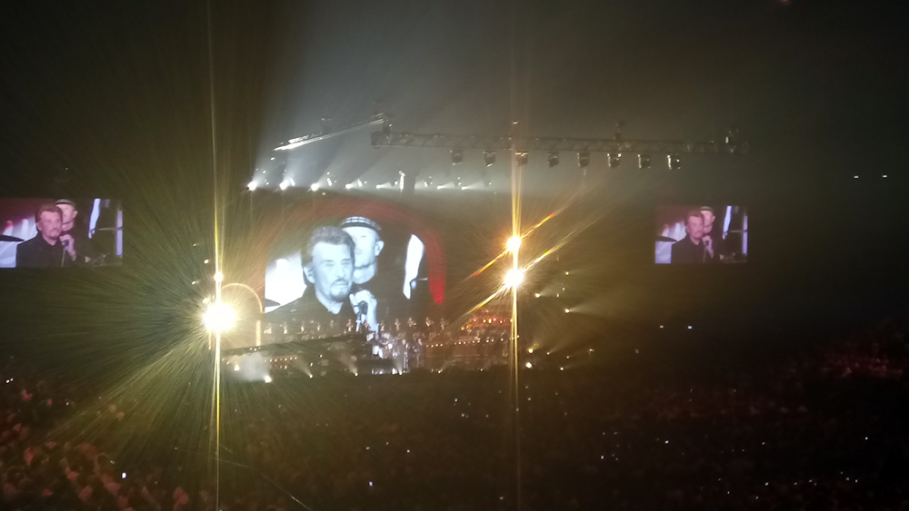Pendant le concert (Photo Smartphone)