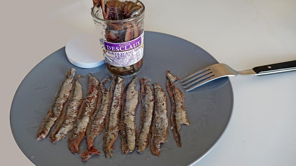 Les anchois Desclaux prêts pour le dégustation
