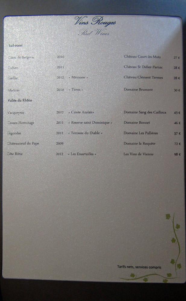 Vins rouges - Sud-Ouest & Vallée du Rhône