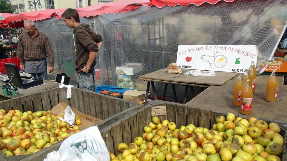 Des pommes, Rubinette et Reinette d'Armorique, de la récolte 2012 qui se termine