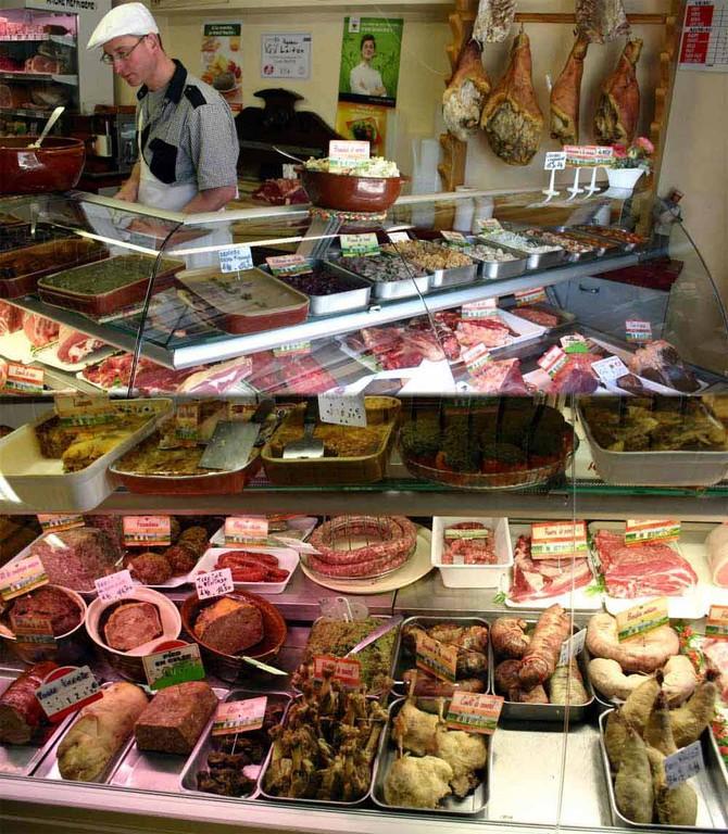 Les charcuteries et les viandes