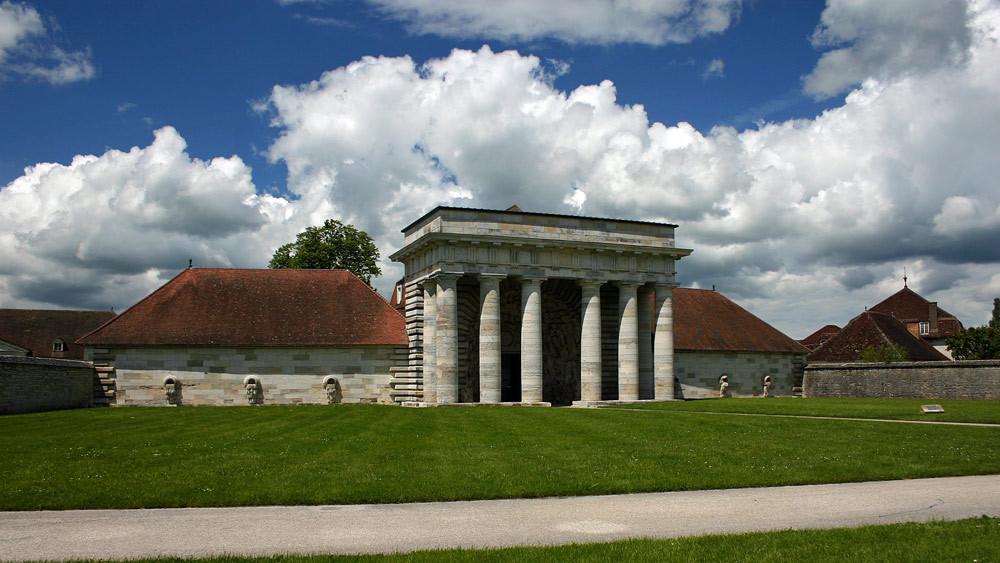 Arc-et-Senans, l'entrée de la Saline Royale