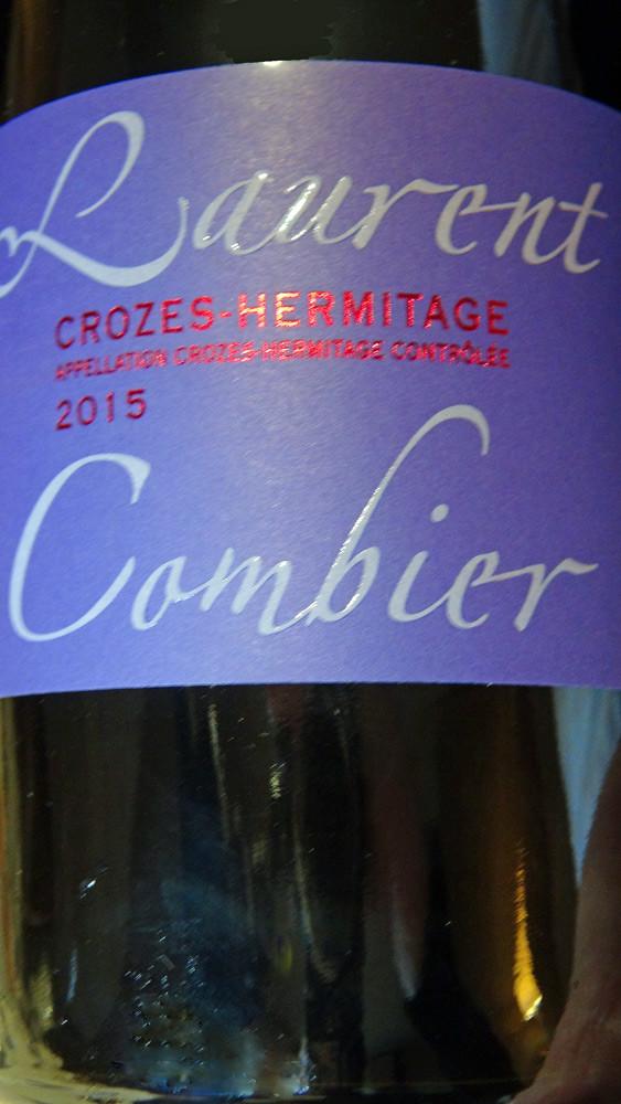 Crozes-Hermitage rouge 2015 de Laurent Combier