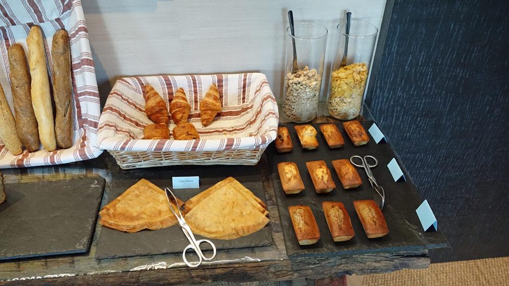 Les pains et viennoiseries du petit déjeuner