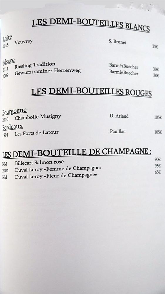 Demi-bouteilles (8 références)