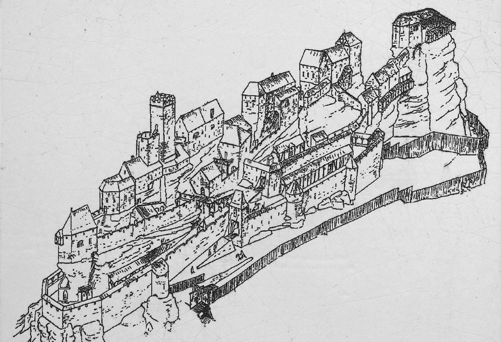 Le plan du château en état