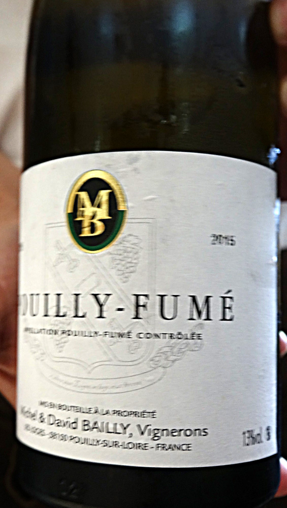 Pouilly-Fumé 2015 de Michel & David Bailly