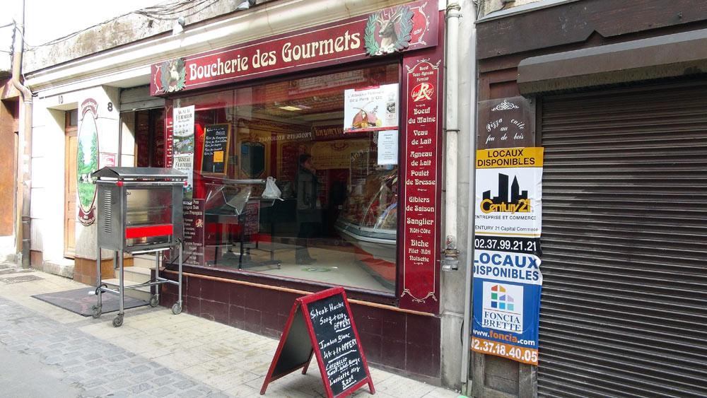 La façade de la Boucherie des Gourmets de Philippe Gautier