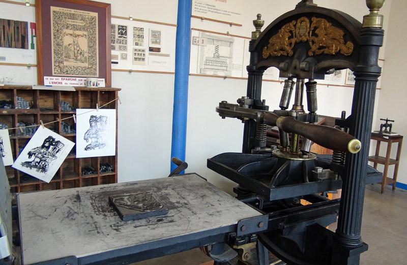 Presse Gutenberg à bras